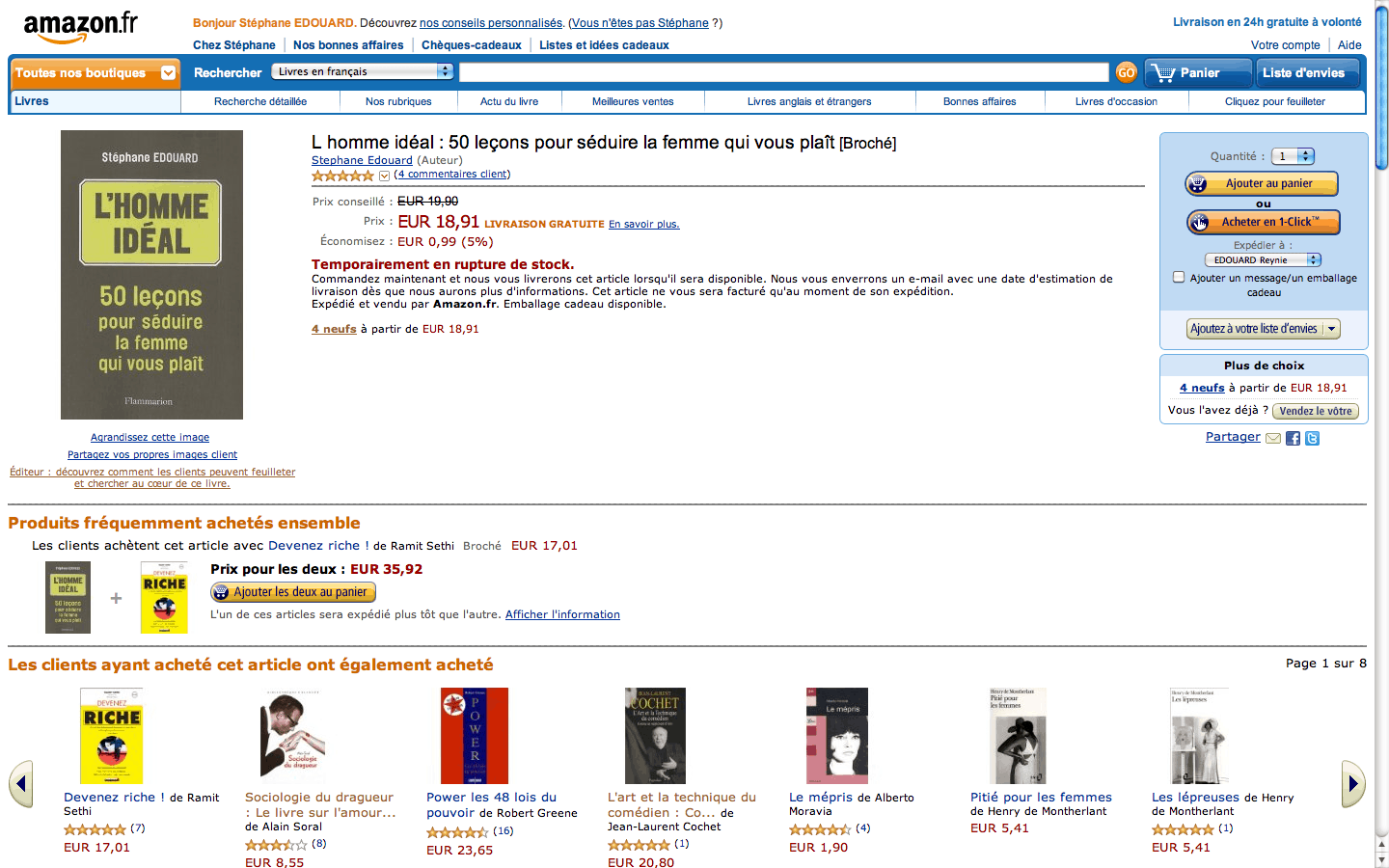 homme ideal amazon rupture