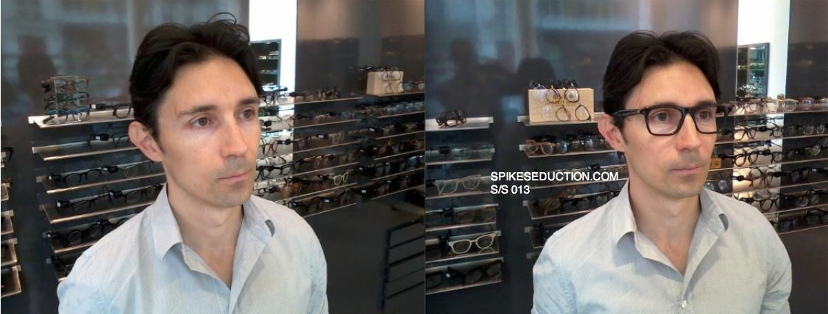 Relooking lunettes Xavier avant apres