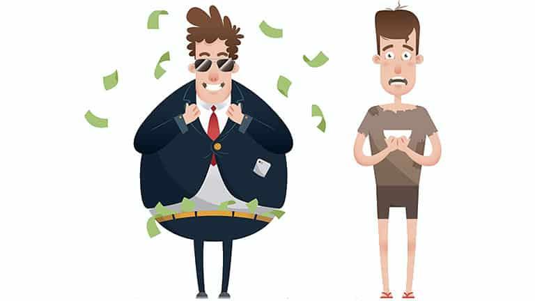 parents riches Vs parents pauvres